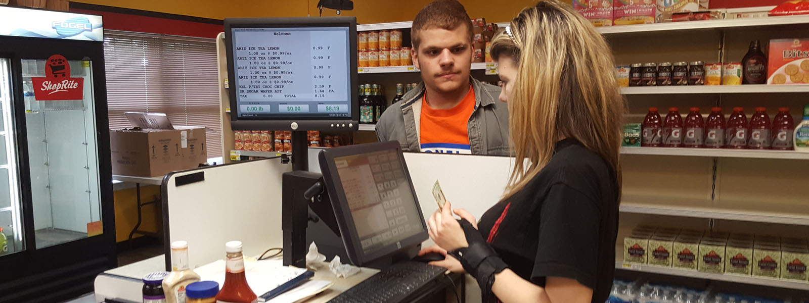 Students working in ShopRite store - New Road School Parlin - - private special education school in Parlin NJ