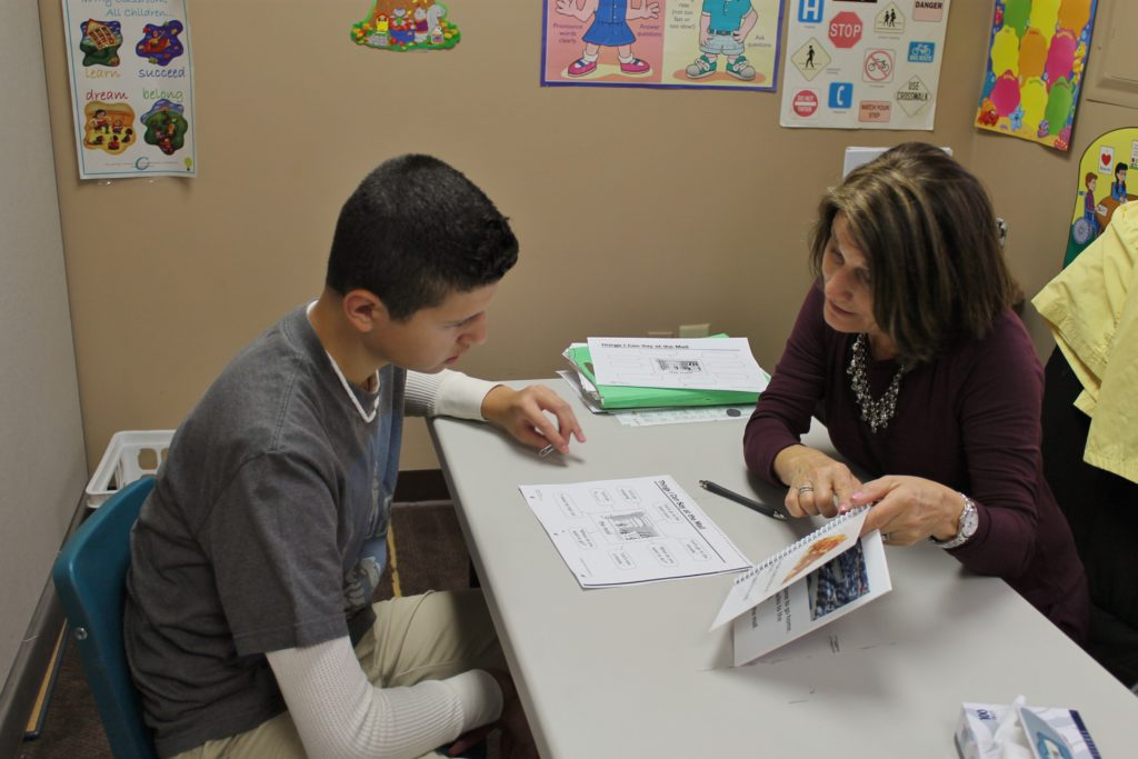one-on-one speech instruction at Parlin NJ special education school - New Road School Parlin